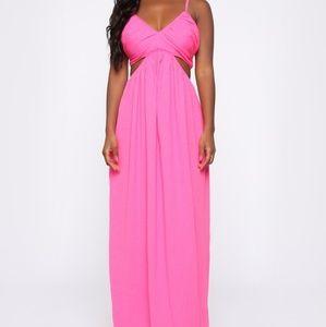 NWT Hot Pink FN Maxi Dress